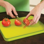 Cut&Carve a non-slip, multi function chopping board.